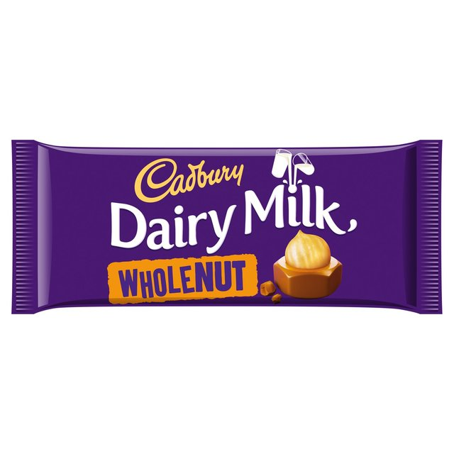 CADBURY mléčná čokoláda DAIRY MILK whole NUT (120g)